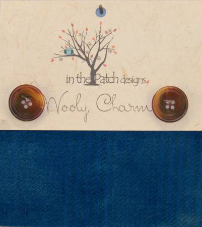 Wooly Charms 5in x 5in Prairie Blue 5ct