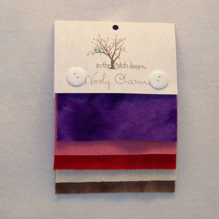 Wooly Charms Sweetheart 5 felted wool squares 5ct