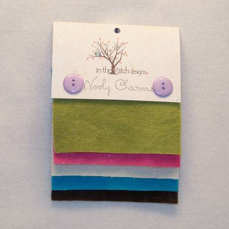 ITPD Wooly Charms  5in x 5in Geranium 5ct
