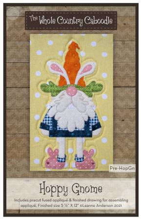Hoppy Gnome Precut Fused Applique Pack
