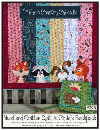 Woodland Critter Quilt & Child's Backpack