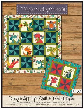 Dragon Applique Quilt & Table Topper WCC407