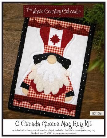 O Canada Gnome Mug Rug Kit