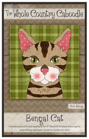 Bengal Cat Precut Fused Applique Pack