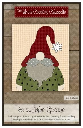 Snowflake Gnome Precut Fused Applique Pack
