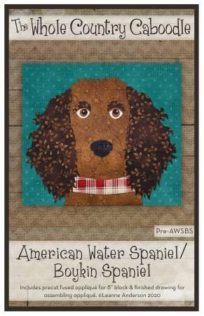 American Water Spaniel/Boykin Spaniel Fused Applique Pack