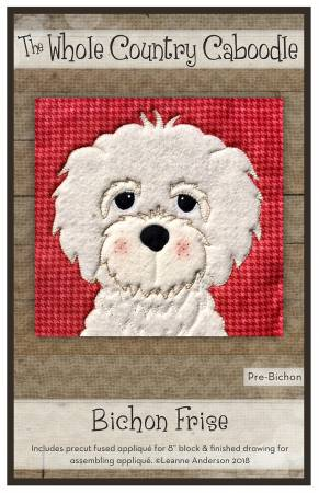 Bichon Frise Precut Fused Applique Pack