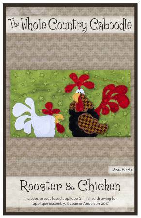 Rooster & Chicken Precut Fused Applique Pack