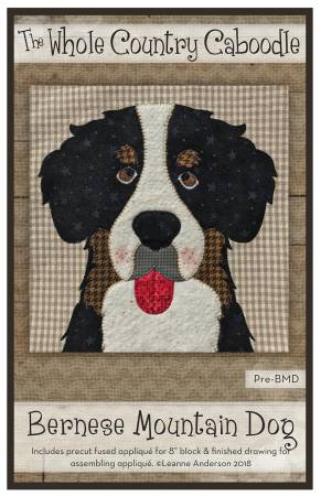 Bernese Mountain Dog Precut Fused Applique Pack