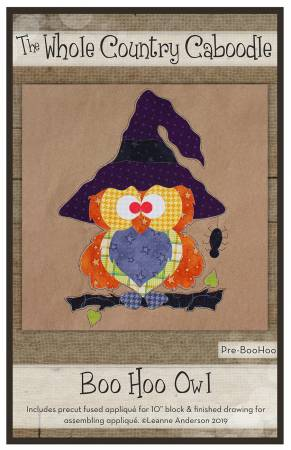 Boo Hoo Owl Fused Applique Pack