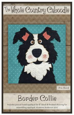 Border Collie Precut Fused Applique Pack