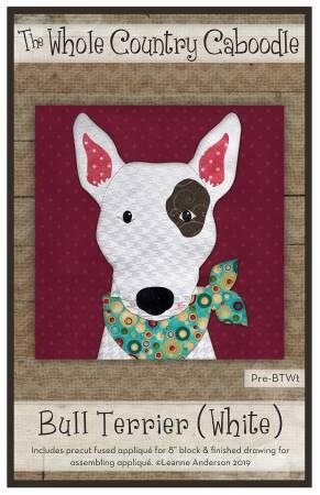 Bull Terrier White Precut Fused Applique Pack