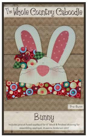 Bunny with Bowtie Precut Fused Applique Pack