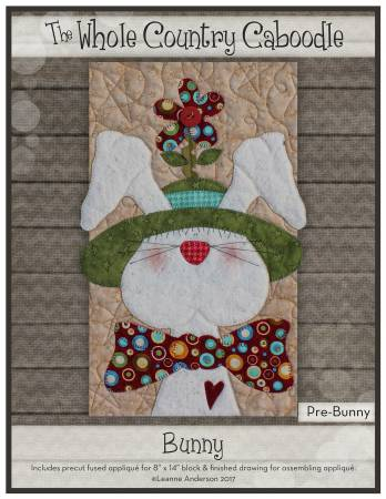 Bunny with Green Hat Precut Fused Applique Pack