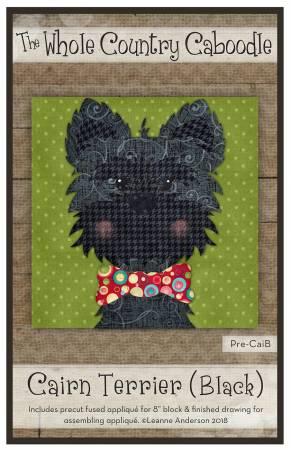 Cairn Terrier Black Precut Fused Applique Pack