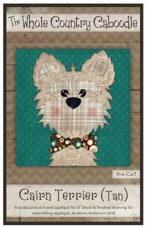 Cairn Terrier Tan Precut Fused Applique Pack