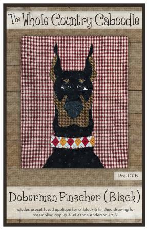 Doberman Pinscher Black Precut Fused Applique Pack