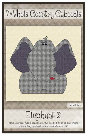 Elephant 2 Precut Fused Applique Pack
