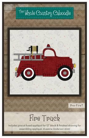 Fire Truck Precut Fused Applique Pack