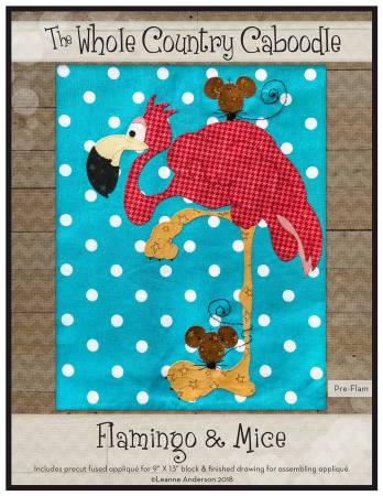Flamingo & Mice Precut Fused Applique Pack