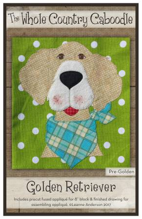 Golden Retriever Precut Fused Applique Pack