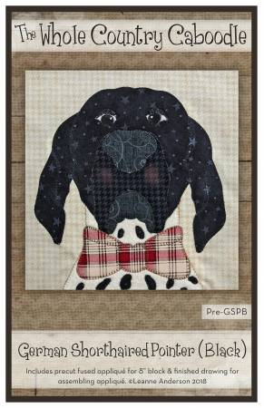 German Shorthaired Pointer Black Precut Fused Applique Pack