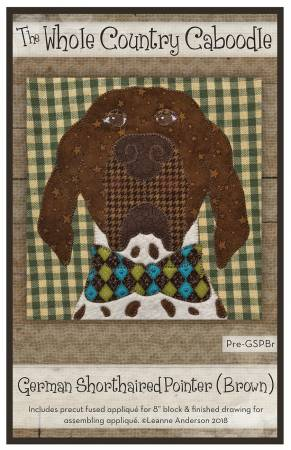 German Shorthaired Pointer Brown Precut Fused Applique Pack