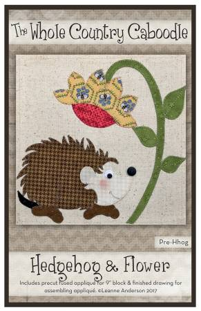 Hedgehog & Flower Precut Fused Applique Pack