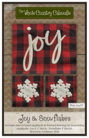 Joy & Snowflakes Precut Fused Applique Pack