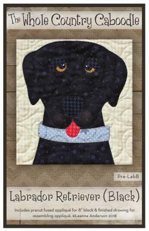 Labrador Retriever Black Precut Fused Applique Pack