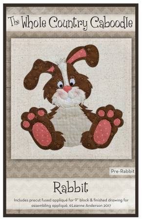 Rabbit Precut Fused Applique Pack