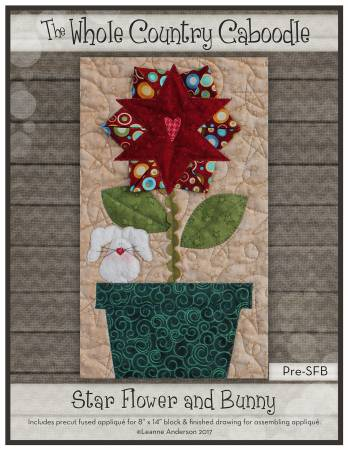 Star Flower & Bunny Precut Fused Applique Pack