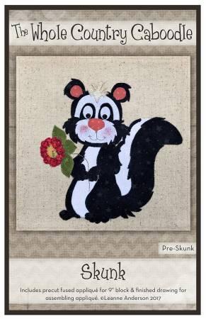 Skunk Precut Fused Applique Pack