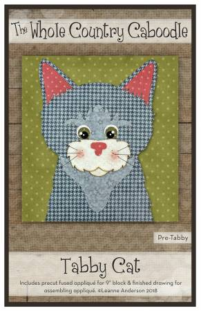 Tabby Cat Precut Fused Applique Pack