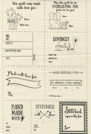 Quilt Labels Sew On