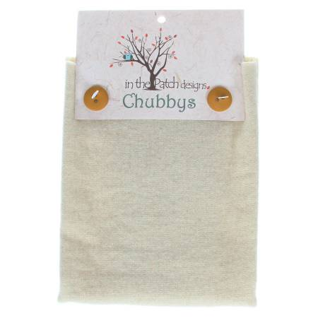 Wool Chubbys 16in Felted Square White