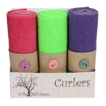 Wool Curlers 3 pc. 4in X 16in Mints