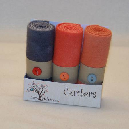 3 Pk Wool Curlers 4in x 16in