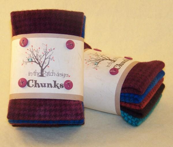 WOOL- Jewel Wool Chunk 5pc 9in x 10in