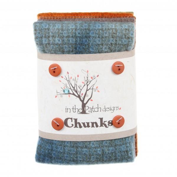 Autumn Wool Chunks 5pc 9in x 10in