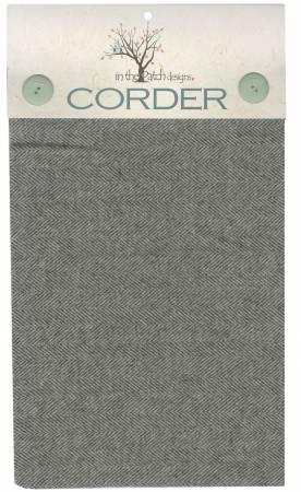 Grey Herringbone Corder Yard Wool