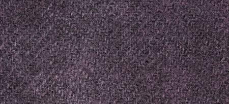 Wool Fat Quarter Herringbone Eggplant