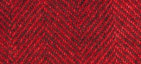 Wool Fat Quarter Herringbone Candy Apple 16in x 26in
