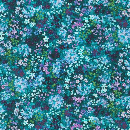 Topia Teal Flowers - RK 19529-213