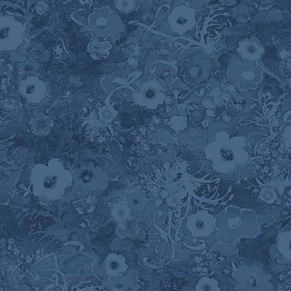 Blue Tonal Floral