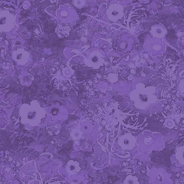 Purple Tonal Floral