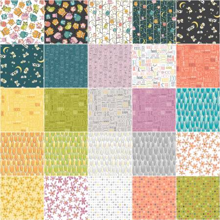 Whoo's Who Fat Quarter Bundle by Terri Degenkolb for Windham Fabrics