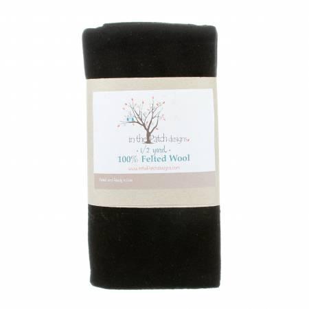 Black Felted Wool 18in x 61in