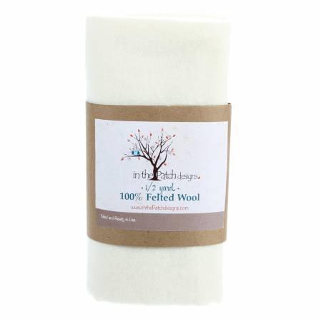 White Felted Wool - 1/2 Yard
