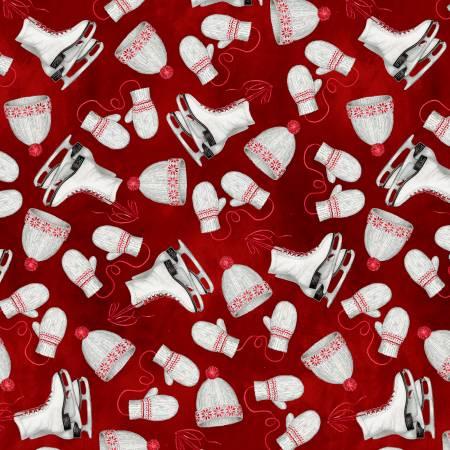 Red Hats & Skates w/Metallic WINW4150-R